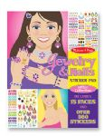 CHILDRENS CHILD MELISSA AND DOUG JEWELLERY JEWELRY AND NAILS GLITTER STICKER PAD